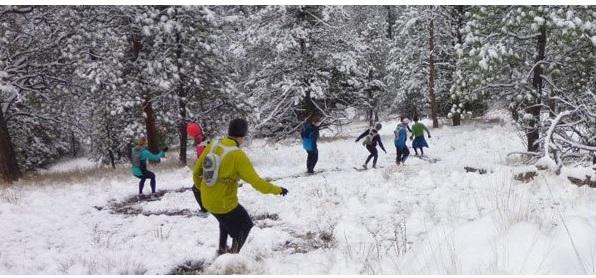runnin in snow